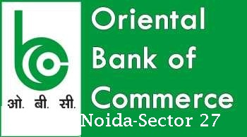 Oriental bank of commerce branch at Noida sector 27